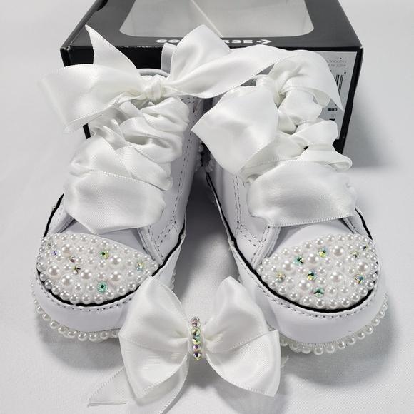 Infant Size 1 Custom Blinged Converse Crib Shoe e4e4abefdc